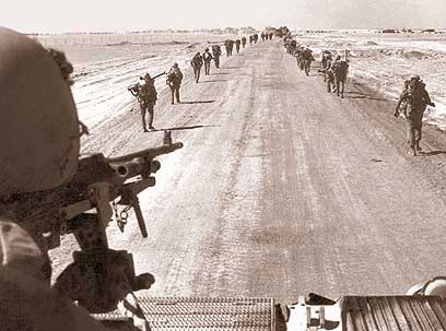 IDF near the Suez Canal in 1973 (Photo: IDF)