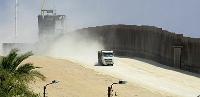 Under the Egyptian initiative, the PA would gain control of the Philadelphi Roue. (Photo: AFP)
