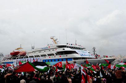 Marmara ship returns to Turkey (Archive photo: AFP)