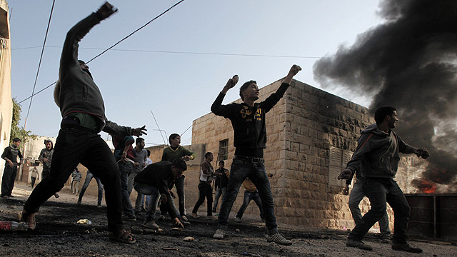 Riots in Jenin, January 2013 (Photo: AFP)
