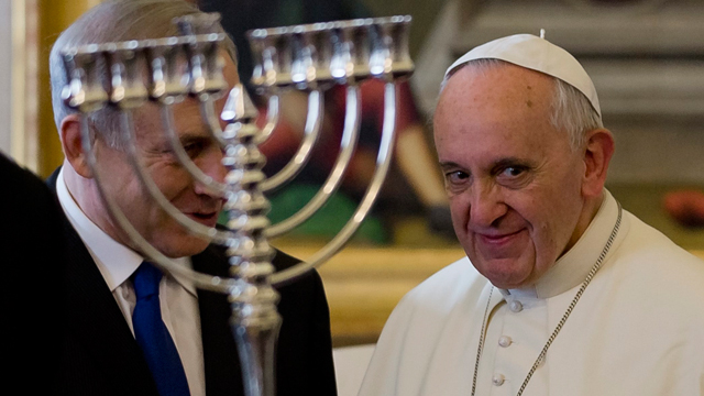 Netanyahu, Francis in Rome (Photo: AP)
