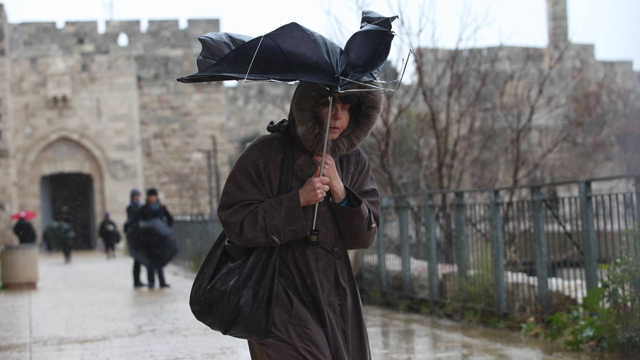 Heavy winds in Jerusalem (Photo: Gil Yochanan)