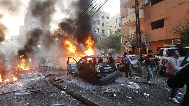 Wave of terror attacks, car bombs and assassinations. Beirut's Dahiya Quarter (Photo: AFP)