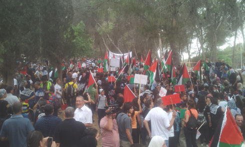 10,000 Israel-Arabs attend protest (Photo: Mohammad Shinawi)