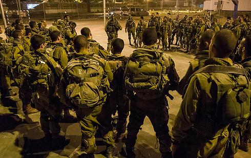 IDF forces in Nablus, Monday night (Photo: IDF Spokesman)