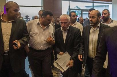 Délégation palestinienne aux pourparlers du Caire (Photo: Reuters)