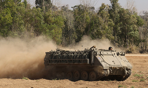 IDF forces at the Gaza border. (Archive Photo: Ido Erez)
