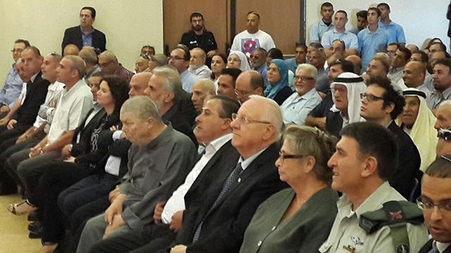 President Rivlin at Kafr Qasim (Photo: Hassan Shaalan)