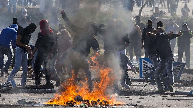 Los disturbios en Kafr Kanna (Foto: AFP)