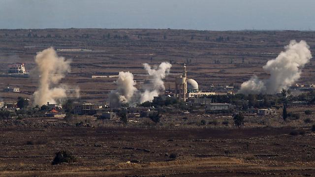 Las explosiones en Quneitra en Siria, no lejos de la frontera con Israel (Archivo Foto: EPA)