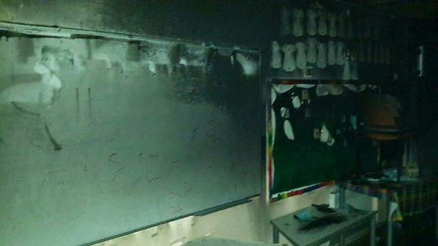 Classroom that was set on fire
