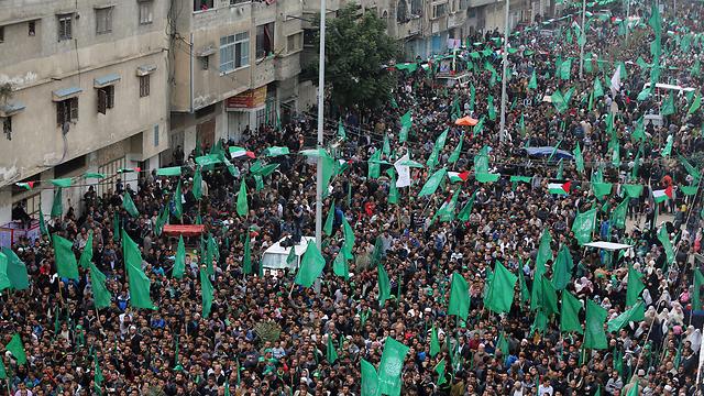 Hamas rally in Gaza (Photo: EPA)