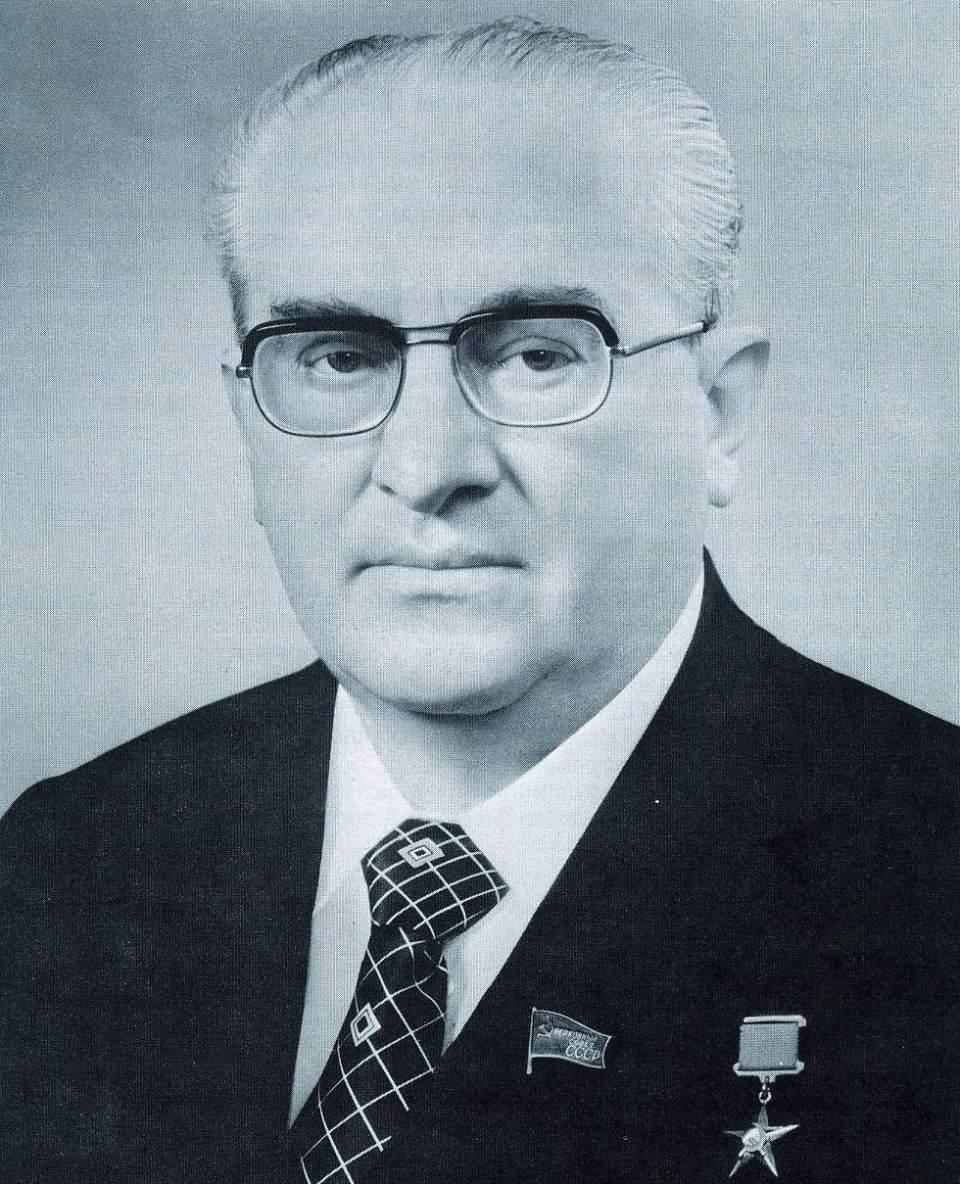 KGB-Chef und späterer Führer der Sowjetunion Andropow