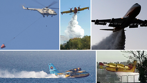 Helicopter from Egypt, US Super-tanker, Ukrainian, Croatian and Azerbaijanian planes