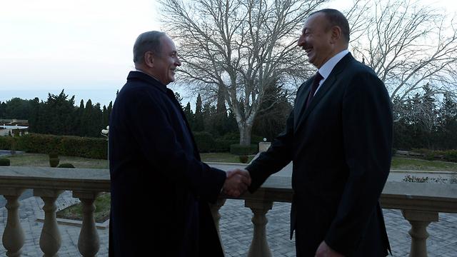 Prime Minister Benjamin Netanyahu and President Ilham Aliyev (Photo: Haim Zach/GPO)