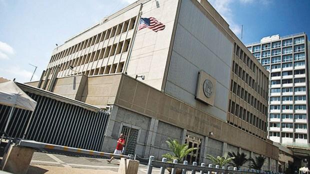 Посольство США в Тель-Авиве. Фото: Нир Элиас