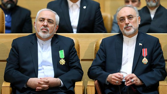 The Iranian architects of the nuclear deal: Foreign Minister Zarif and nuclear chief Salehi (Photo: AP)