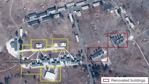 Иранская военная база в Сирии. Фото: Digital Globe, McKenze intelligence Services, BBC (Photo: Digital Globe, McKenze intelligence Services, BBC)