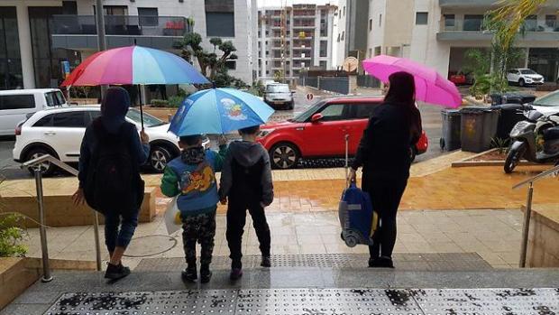 Ришон ле-Цион под дождем. Фото: Нарэль Эфраим