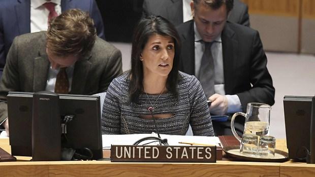 Никки Хейли в Совбезе ООН. Фото: AFP (Photo: AFP)