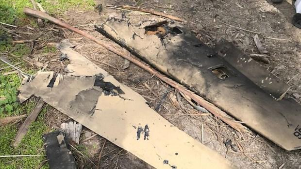 Останки сбитого БПЛА. Фото: пресс-служба ЦАХАЛа