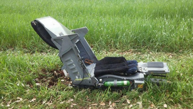 Кресло катапультировавшегося пилота. Фото: Ашер Леви (Photo: Asher Levi)