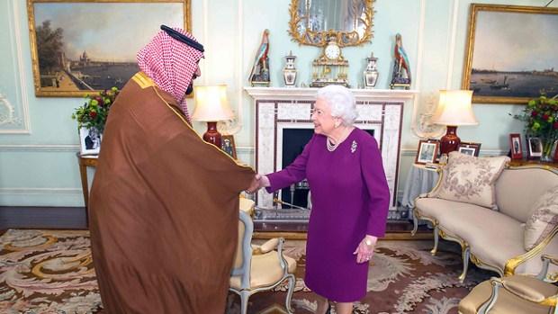 Аудиенция у королевы Елизаветы. Фото: AFP