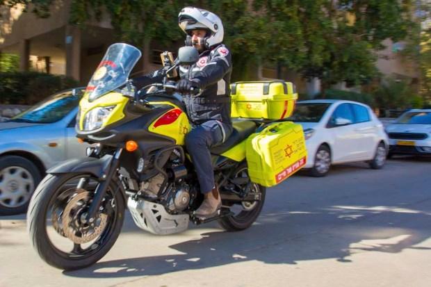 Мотоцикл скорой помощи. Фото: Шахар Хазаклевич (МАДА)