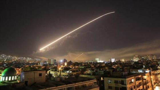 US-led strike in Syria, early Saturday (Photo: AP)