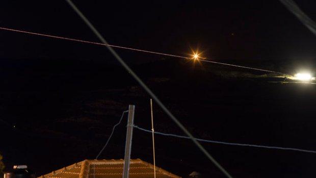Перехват ракеты над Голанскими высотами. Фото: EPA