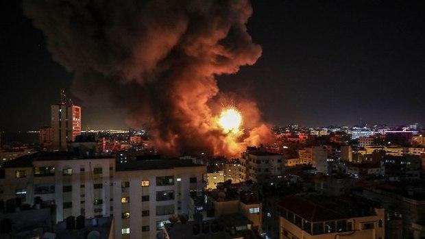 Удар по телецентру в Газе.Фото: ЕРА