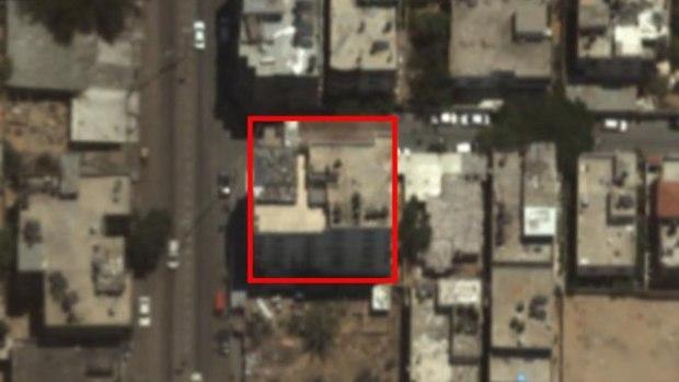 Цель - штаб разведслужбы ХАМАСа. Фото: пресс-службы ЦАХАЛа