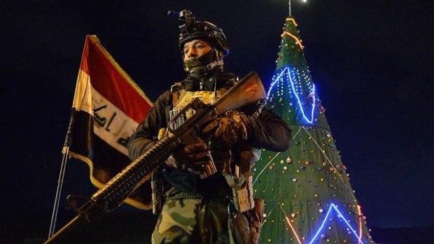 Новый год в иракском Мосуле. Фото: AFP