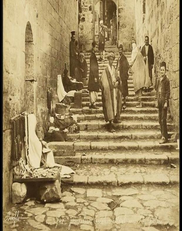 Улица в Xристианском квартале. 1880 год. Фото: Феликс Бонфилз. Из коллекции Национальной библиотеки