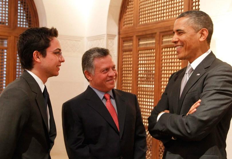 Le roi Abdallah, le prince héritier Hussein et le président américain de l'époque Barack Obama au cours de la dernière décennie