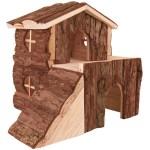 Haustier Angebot: Trixie Blockhaus Bjork für Nager aus Naturholz 20×19×21cm