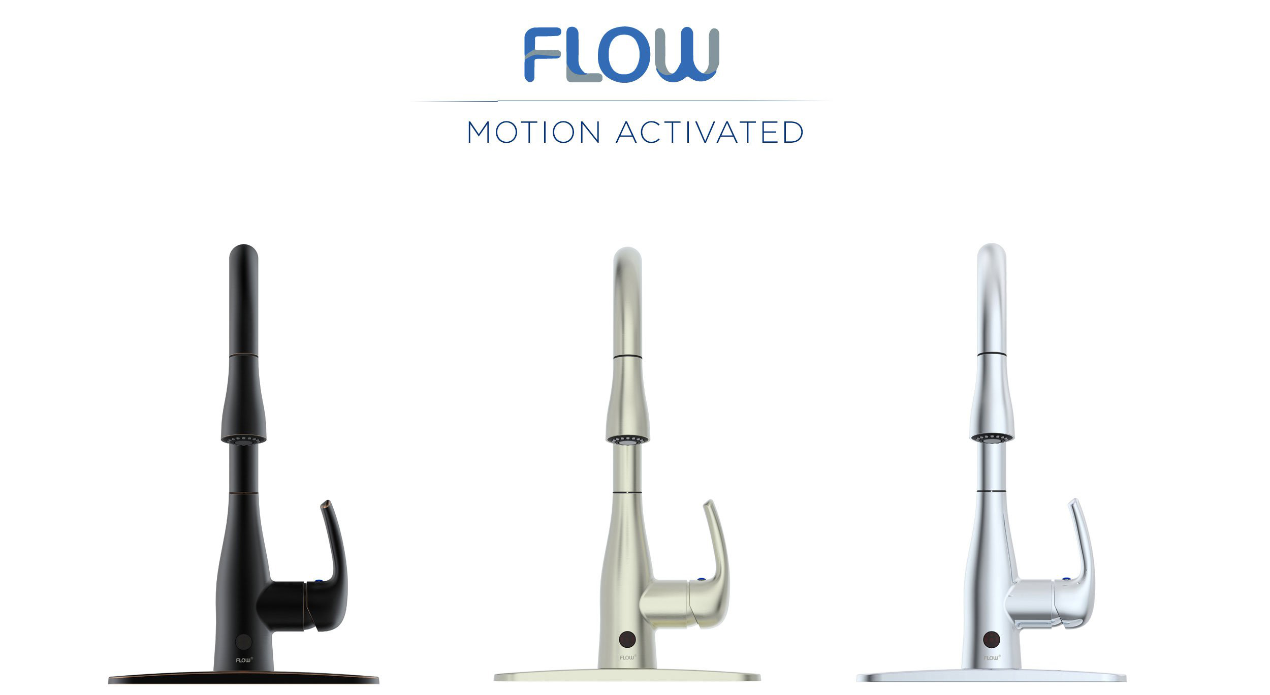 Flow Kitchen Faucet Hands Free Motion Sensing Technology
