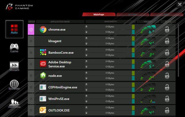 screenshot of PhantomGamingLANUI
