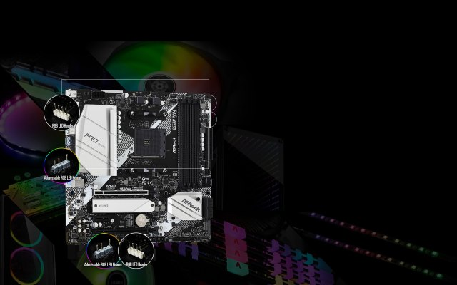 POLYRGBLED-B550M Pro4 Gaming 4 WiFi ax