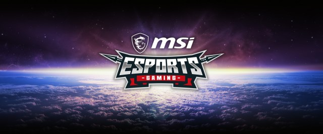 eSports G-SYNC compatible gaming logo in the center of the sky