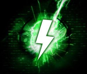 a green thunderbolt logo