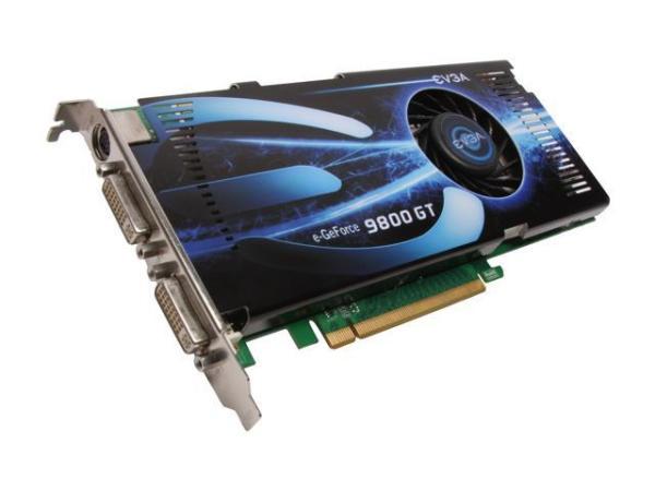 EVGA GeForce 9800 GT DirectX 10 512P3N975AR 512MB 256