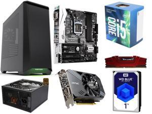 Intel Core i5-7400 3.0 GHz, ZOTAC GeForce GTX 1060, G.SKILL Ripjaws 8GB DDR4 2400, ASRock B250M Pro4 Micro ATX Motherboard, ...