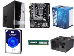 Budget Build: Intel G4600 Kaby Lake 3.6GHz Dual-Core, Crucial 4GB DDR 4 DDR2133, ASRock Micro ATX B250M-HDV Sata 6GB/S HDMI, ...
