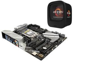 AMD RYZEN Threadripper 1950X 16-Core / 32 Threads 3.4 GHz Socket sTR4 180W YD195XA8AEWOF Desktop Processor, ASUS PRIME X399-A ...