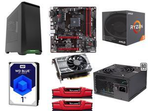 AMD RYZEN 3 1300X 4-Core 3.5 GHz, GIGABYTE GA-AB350M-Gaming 3 MB, G.SKILL Ripjaws V Series 8GB DDR4 2133, EVGA GeForce GTX ...