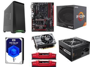 AMD RYZEN 3 1200 4-Core 3.1 GHz, GIGABYTE GA-AB350-Gaming 3 MB, G.SKILL Ripjaws V Series 8GB DDR4 2133, EVGA GeForce GTX ...