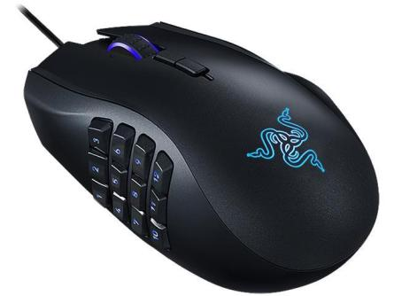 Razer gaming mouse with macro buttons