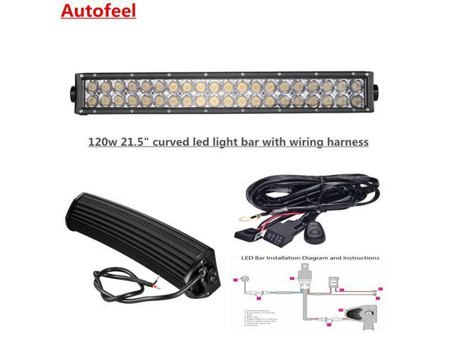 """Autofeel Curved 21.5"""" 120w LED Light Bar With Wiring"""