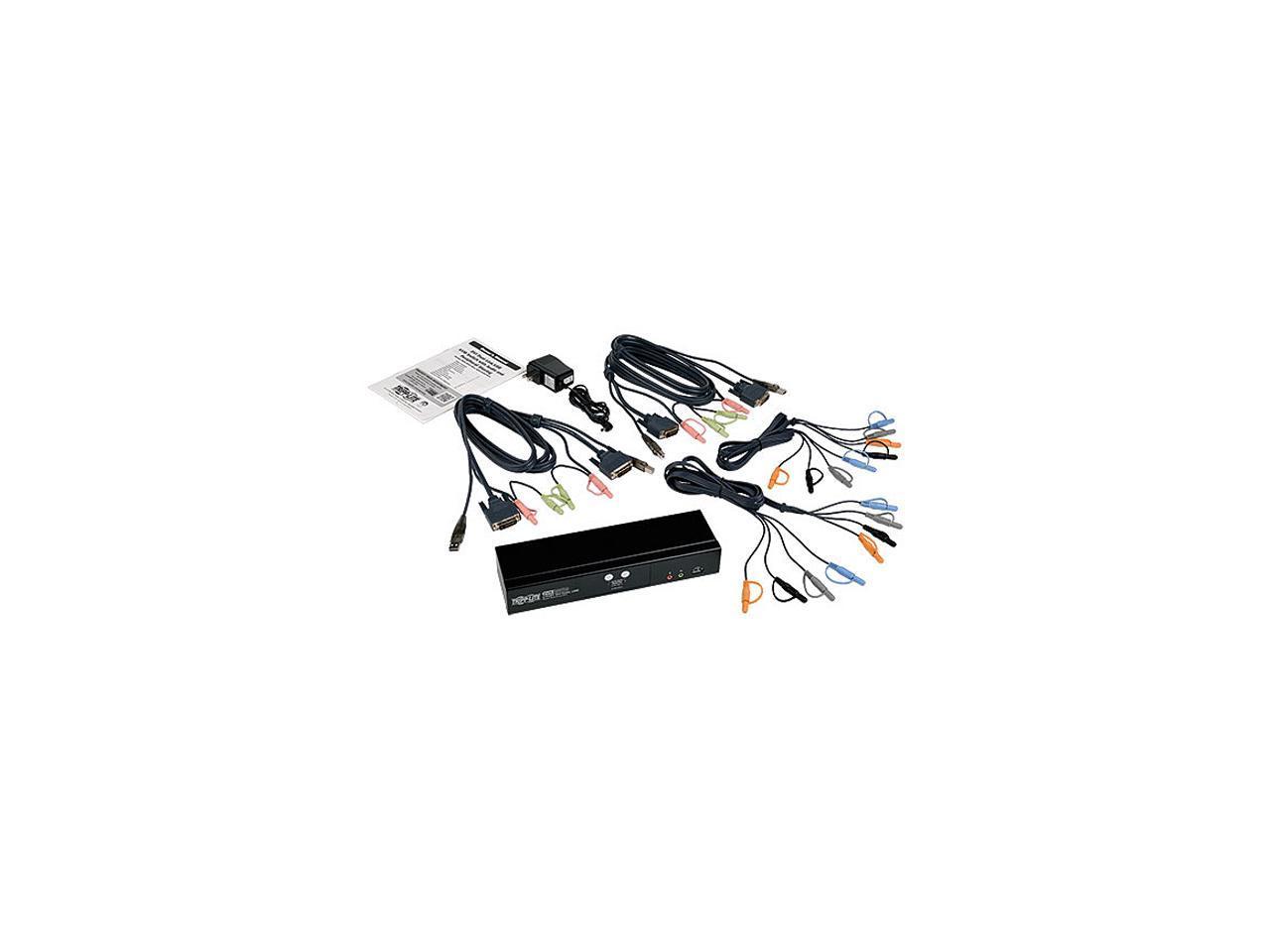 Tripp Lite 2 Port Dvi Dual Link Usb Kvm Switch W Audio